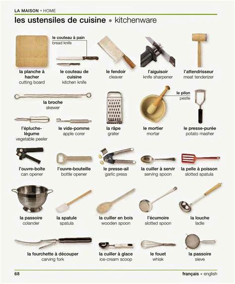 liste des ustensiles de cuisine les ustensiles de cuisine vocabulary