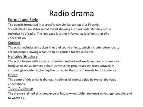 radio script template radio drama