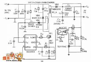 Flyback Type Converter Circuit Composed Of Max5021