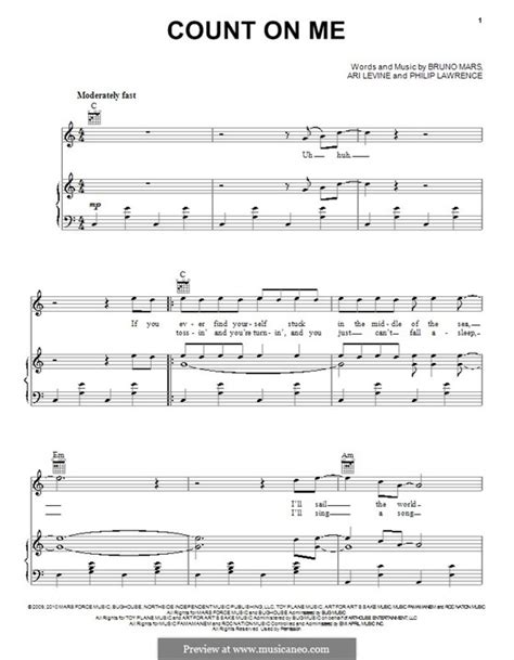 count on me music i love sheet music gitarre