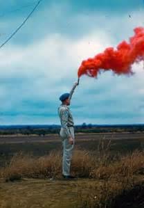 Colored Smoke Bomb Photography