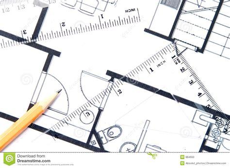 outils conception cuisine crayon jaune et un plan d 39 étage photo stock image 884650