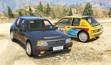 peugeot 205 rally peugeot 205 turbo 16 add on tuning livery gta5