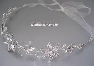 headband strass fleurs mariage princesse With bijoux mariage strass