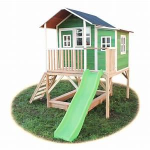 Spielhaus Garten Mit Rutsche : holz kinder spielhaus stelzen kinderspielhaus stelzenhaus ~ Watch28wear.com Haus und Dekorationen