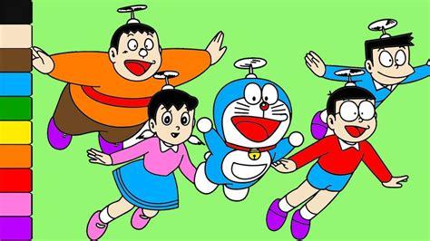 Learn Colors For Kids And Color Doraemon Nobita Shizuka