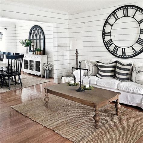 The colors, texture, accessories will inspire you for days! {Farmhouse Living Rooms} • Modern Farmhouse Living Room Decor Ideas (Family Rooms, Dens ...