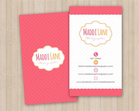 girly business card template business card templates
