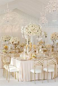 white and gold table decorations decorating idea With gold wedding decoration ideas