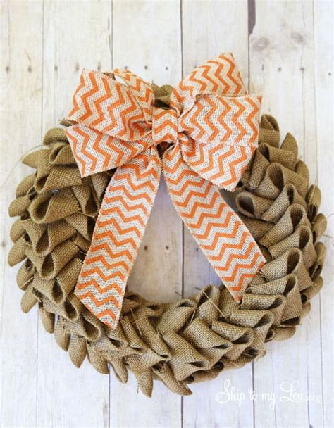 learn     burlap wreath   easy tutorial
