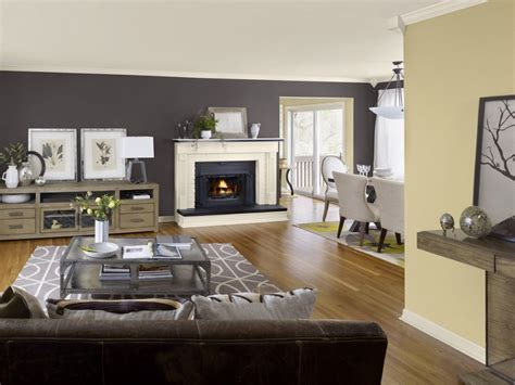 great room paint colors light color with brown accent