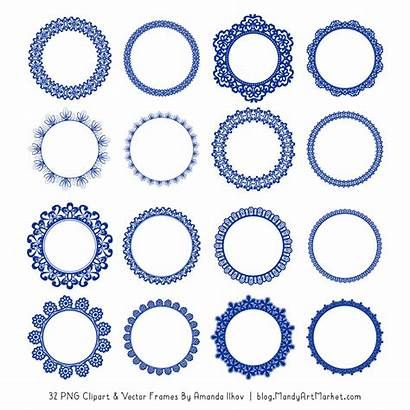 Round Clipart Lace Frames Purple Frame Pink