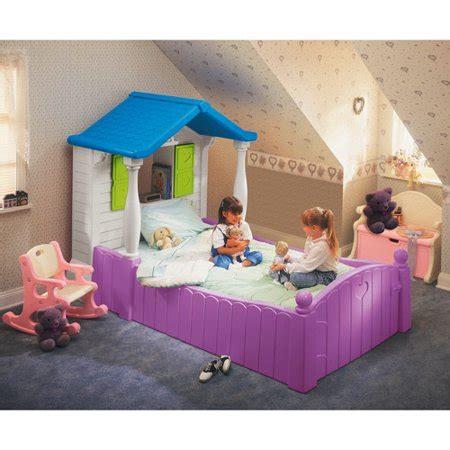 tikes cottage bed tikes storybook cottage bed purple walmart