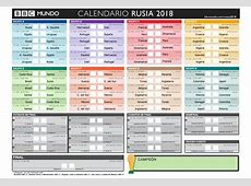 Calendario Partidos Mundial Rusia 2018 kalentri 2018