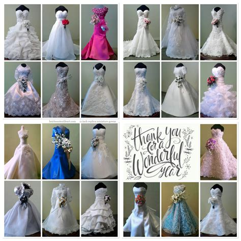 replica miniature gowns 11 inches tall www