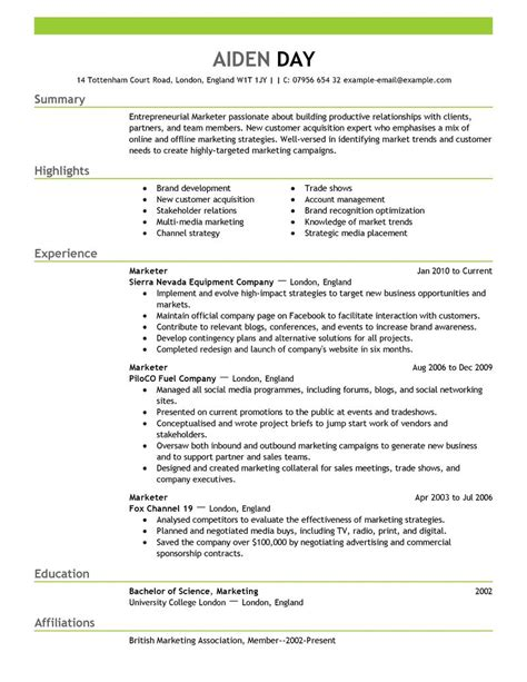 resume summary for entry level sales positions sle marketing resume exles