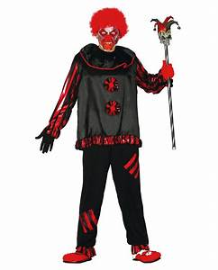 Gruselige Halloween Kostüme : schwarzer zombie clown kost m gruselige clown verkleidung horror ~ Frokenaadalensverden.com Haus und Dekorationen