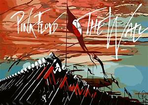 Fashionable Pink Floyd The Wall Art With Logo Wallpaper