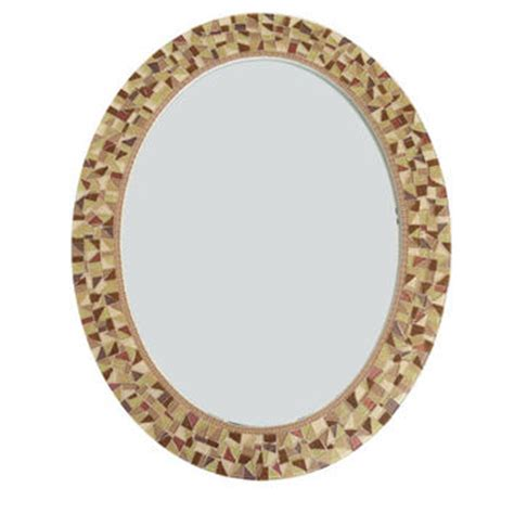 Brown Mosaic Bathroom Mirror by Brown Wall Mirror Oval Mosaic Mirror From Green