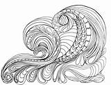 Coloring Waves Adult Ocean Tsunami Printable Colouring Wave Drawing Grown Lostbumblebee Sheets Flowers Sea Printables Adults April Detailed Colorings Getdrawings sketch template