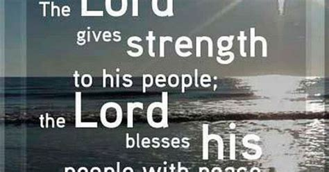 lord  strength   people  lord blesses