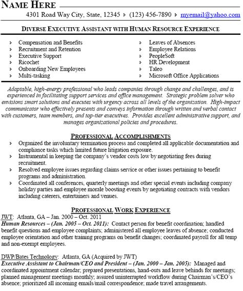 human resources professional resume sle director hr resume sales director lewesmr