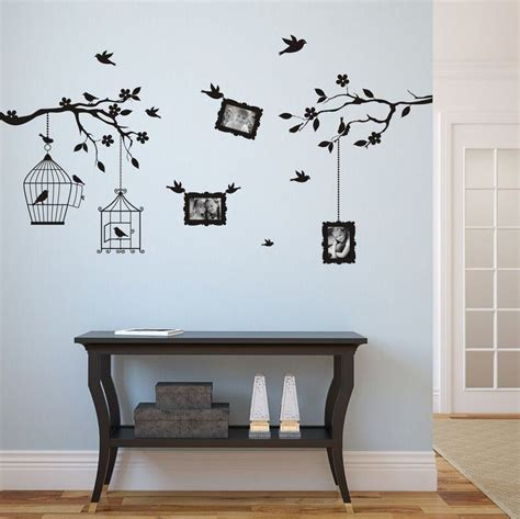 dessin mural chambre adulte wall sticker arbre des photos 9x13cm 3410n stickers