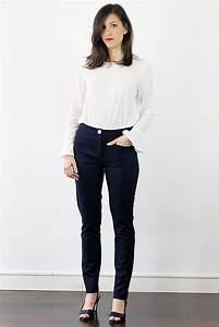 Vetement Femme Rock Chic : atode pantalon flanelle femme bleu chin coupe tailleur made in france ~ Melissatoandfro.com Idées de Décoration