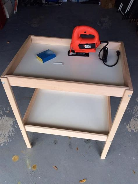 how to make a changing table how to make 2 play tables from an ikea changing table