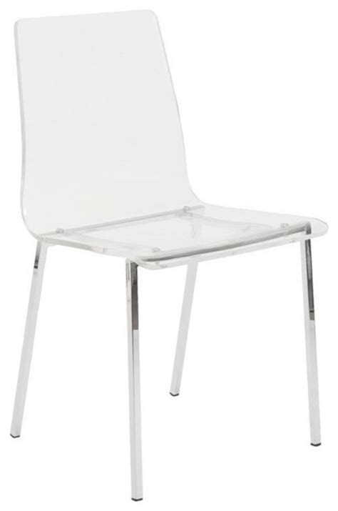 clear dining chair acrylic chrome set of 4