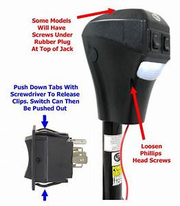How To Remove Cover Of Lippert   Lc285318 Powered Tongue Jack To Replace Switch