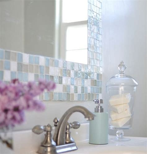 mosaic tile bathroom mirror bathroom pinterest