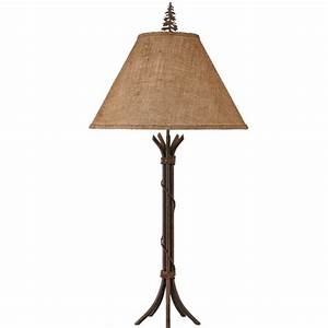 Steel wire wrapped floor lamp with burlap shade for Floor lamp with wire shade