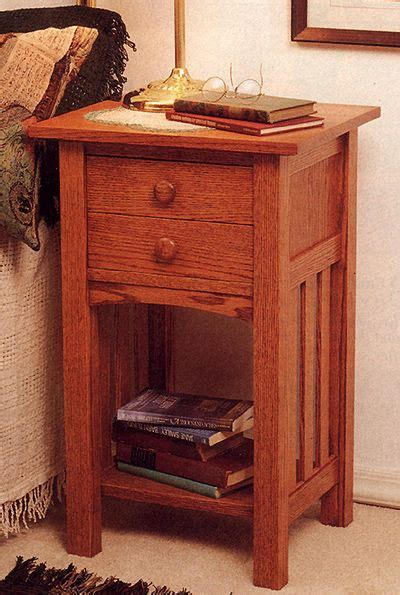arts  crafts mission  table night stand indoor home