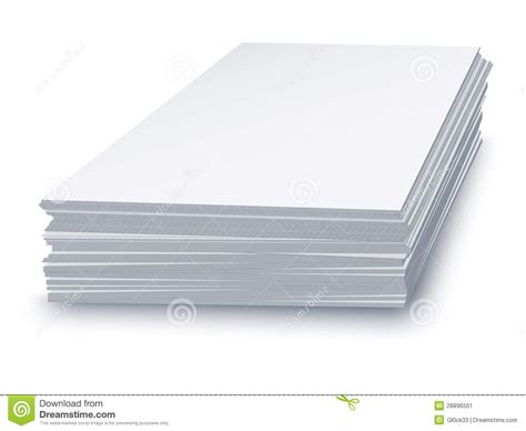 white stacked white paper stacked stock image image 28896501