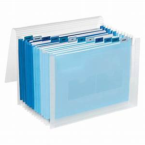 blue 13 pocket accordion letter file the container store With letter file