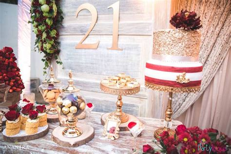 kara s ideas rustic vintage 21st birthday