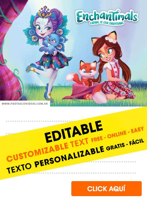 invitaciones de enchantimals gratis