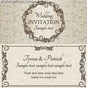 vector wedding invitation design template eps downloads With wedding invitation template html5