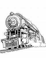 Coloring Train Steam Printable Hogwarts Express Engine Outline Cartoon Lego Template Awesome Reel Railroad Trains Designlooter Drawings Coloringfolder sketch template