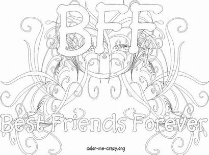 Coloring Pages Bff Printable Teenagers Crazy Friendship