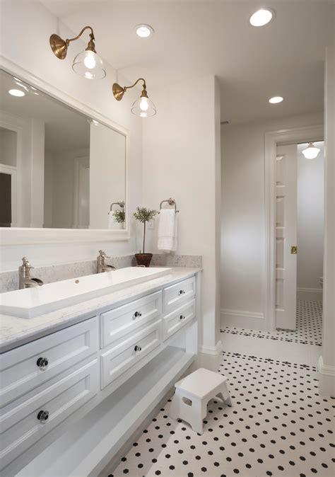 splashy trough sink  bathroom traditional  girl bathroom    faucet trough sink