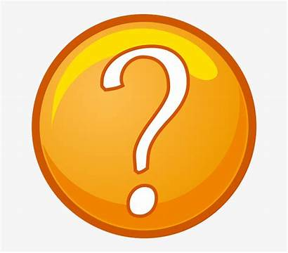 Question Mark Cartoon Marks Orange Circle Point