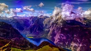 Mountains landscape nature mountain psychedelic wallpaper ...