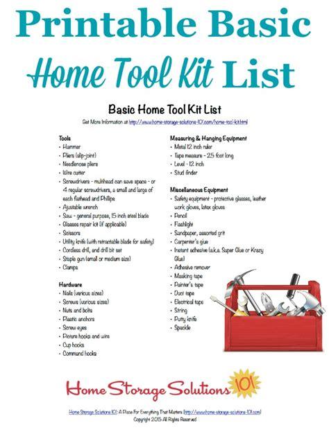 basic home tool kit list      essentials