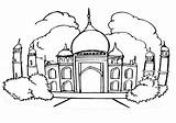 Mosque Coloring Pages Coloringway sketch template