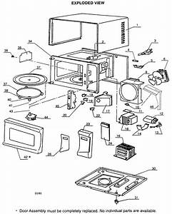 Cabinet Parts Diagram  U0026 Parts List For Model Mw8102ss