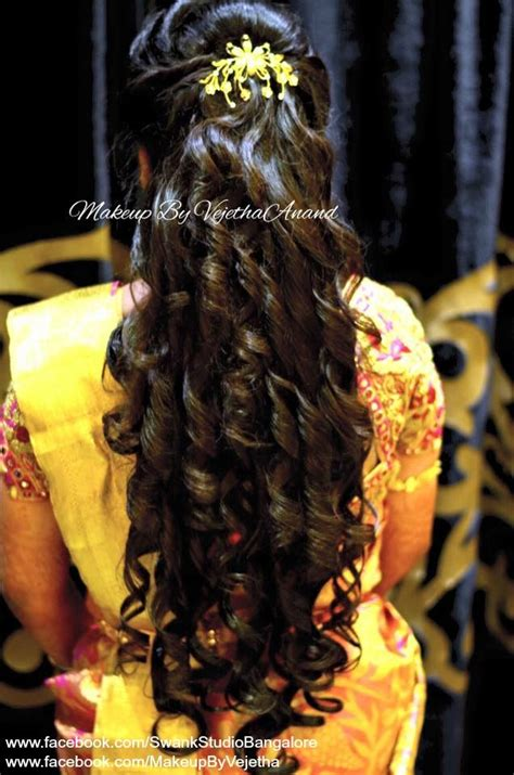 indian wedding hair styles indian s reception hairstyle by vejetha for swank 1550