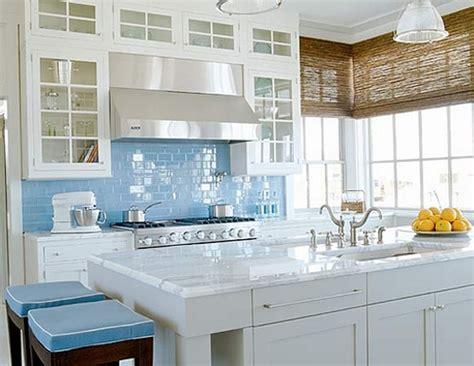Sky Blue Glass Subway Tile Kitchen Backsplash  Subway