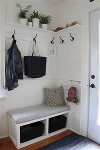 32 small mudroom and entryway storage ideas shelterness With what kind of paint to use on kitchen cabinets for fabrication du papier